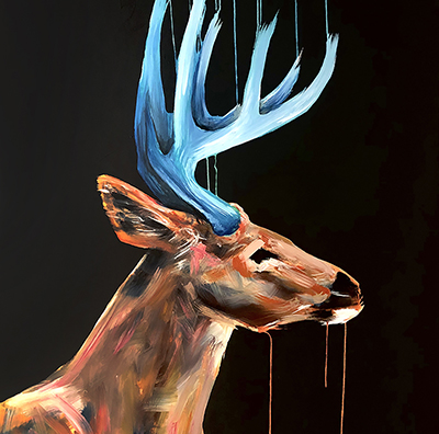 painting of stag