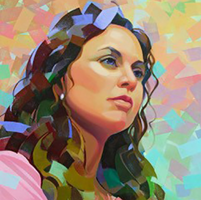 geometric colorful painting