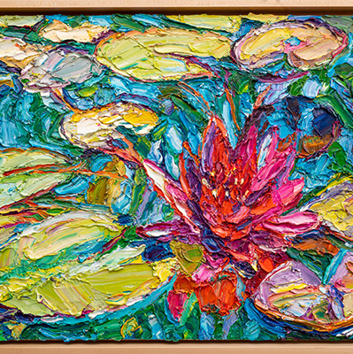 colorful lily painting