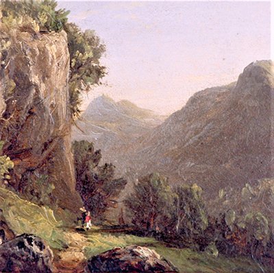David Johnson, Catskill Mountains, 1848, oil on panel, MAM permanent collection