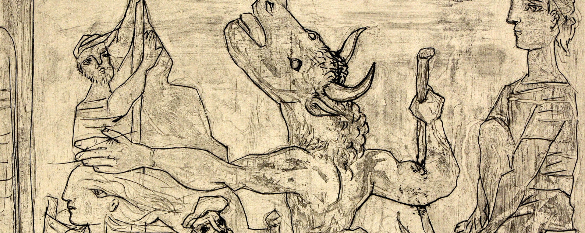 Picasso etching - Blind Minotaur Led by a Little Girl