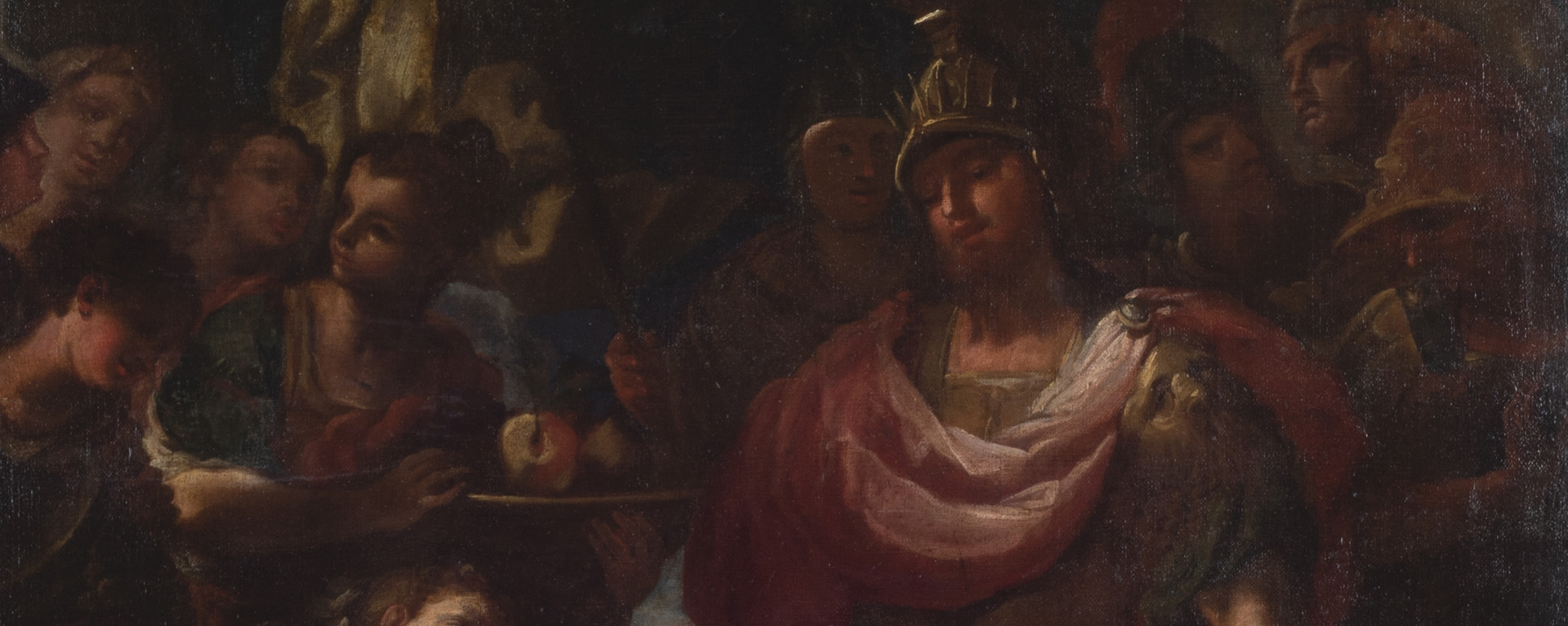 meeting of david and abigail, oil on canvas, 18th century, Mulvane Art Museum permanent collection